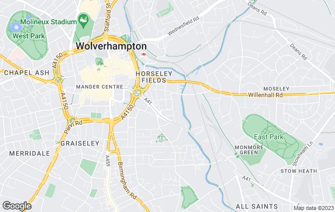 Map for Pentlands Lettings, Wolverhampton