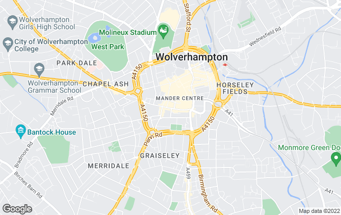 Map for The Property Lounge, Wolverhampton