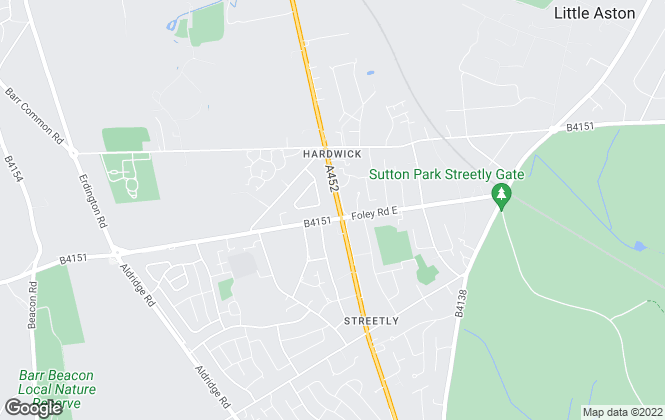 Map for Bairstow Eves, Streetly