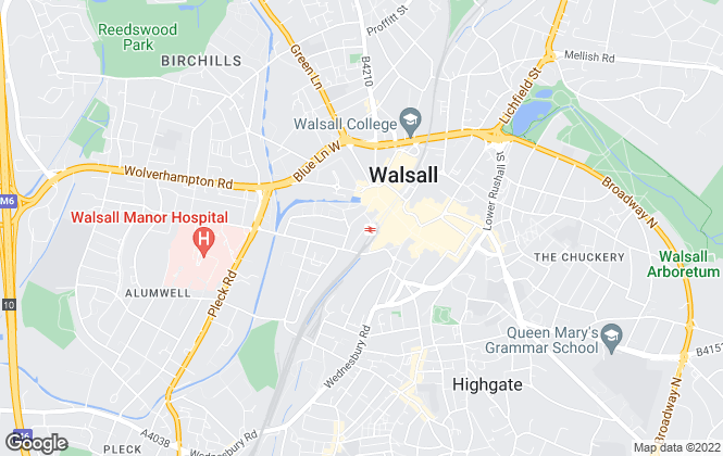 Map for iLove homes, Walsall