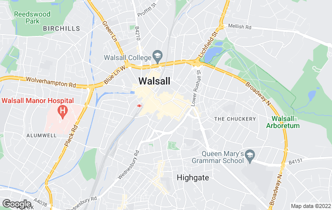 Map for Dixons, Walsall