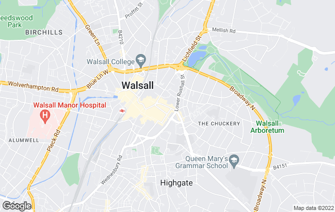 Map for Connells, Walsall