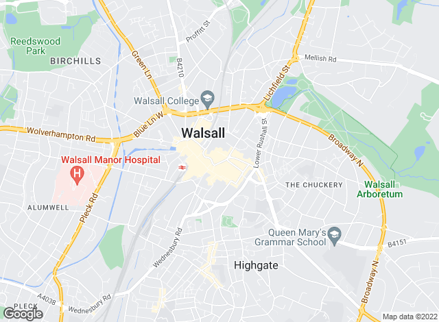 Map for Homepoint Estate Agents Ltd, Walsall