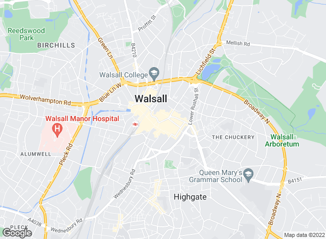 Map for Homepoint Estate Agents Ltd, Walsall - Lettings