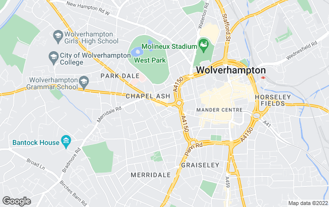 Map for Austins Estate Agents , Wolverhampton