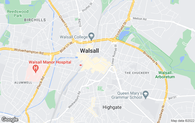 Map for Acorns & Co Estate Agents, Walsall