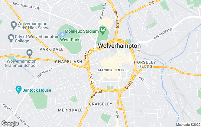 Map for Simple Life, Wolverhampton