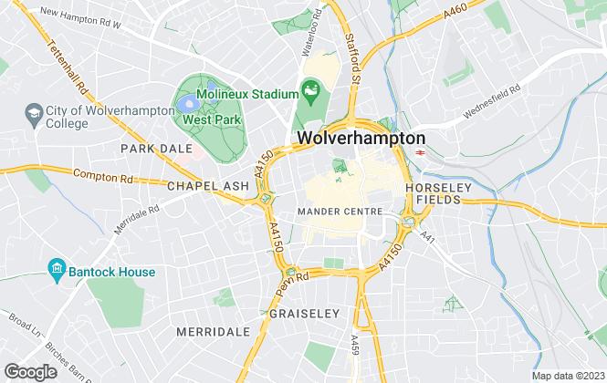 Map for D B Roberts & Partners, Wolverhampton