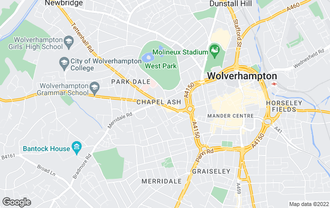 Map for Concentric Sales & Lettings, Wolverhampton