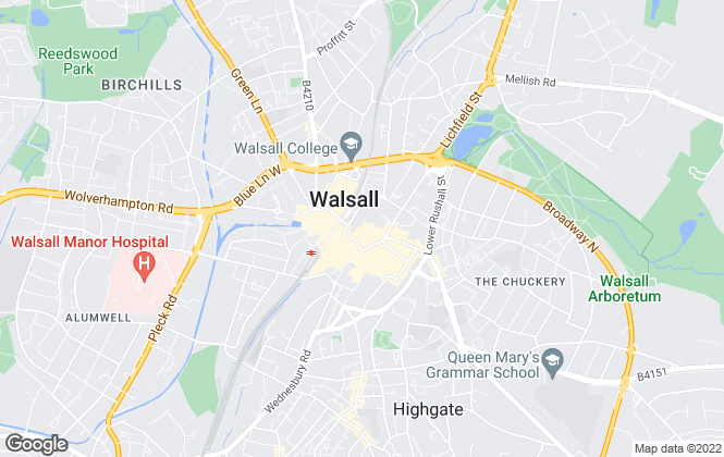 Map for Easy Property, Walsall