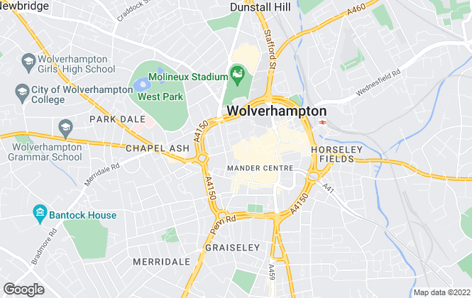 Map for Connells, Wolverhampton