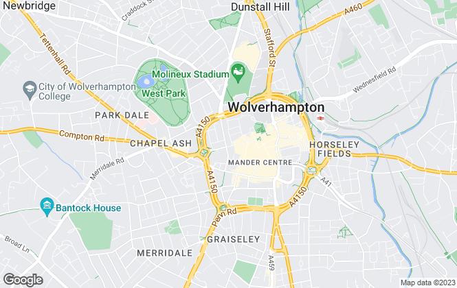 Map for Dixons Lettings, Wolverhampton