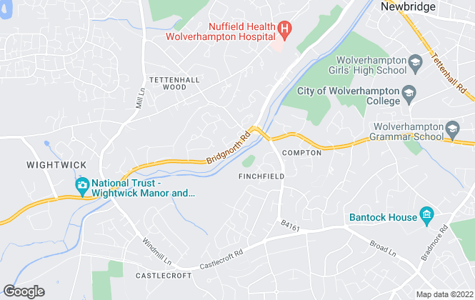 Map for Steventon Land & Estate Agents, Wolverhampton