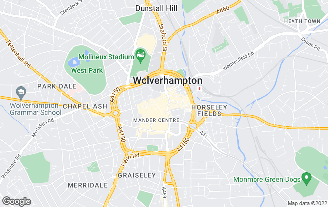 Map for Jackson Lile & Close, Wolverhampton
