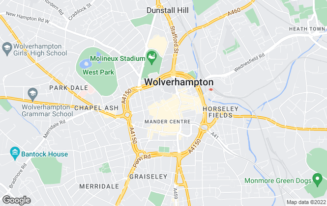 Map for Goodchilds, Wolverhampton