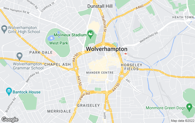 Map for Belvoir, Wolverhampton