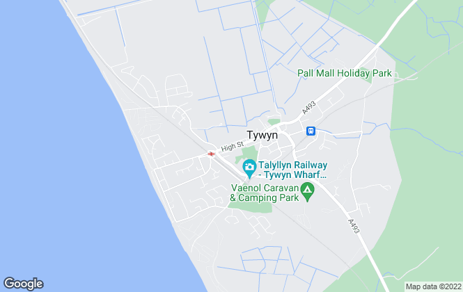 Map for J H Jones, Tywyn