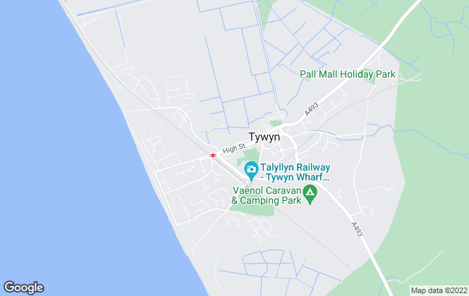 Map for RG Jones, Tywyn