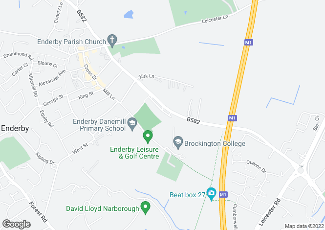 Map for Blaby Road, Enderby LE19 4AQ