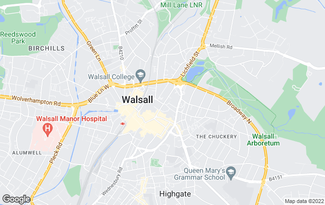 Map for Fraser Wood Commercial, Walsall