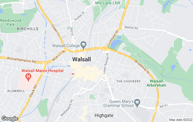 Map for Fraser Wood, Walsall