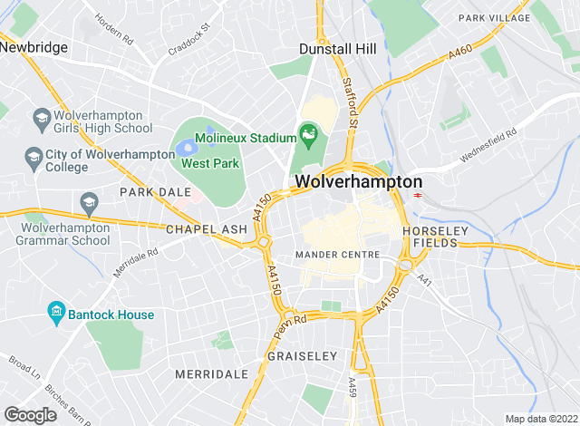 Map for Reeds Rains , Wolverhampton
