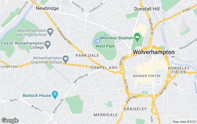 Map for Towler Shaw Roberts, Wolverhampton