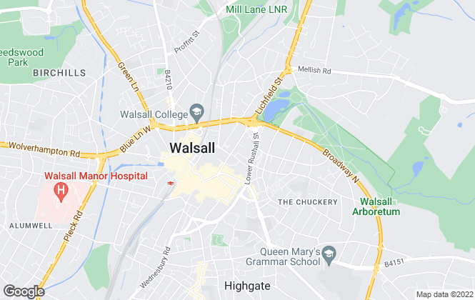 Map for Bairstow Eves, Walsall