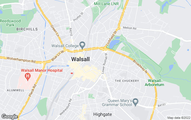 Map for Goold Estates Limited, Walsall