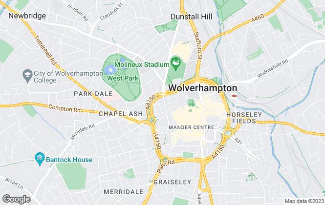 Map for Sanders, Wright & Freeman, Wolverhampton