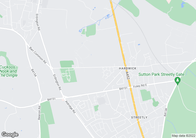 Map for Little Hardwick Road, Aldridge, West Midlands