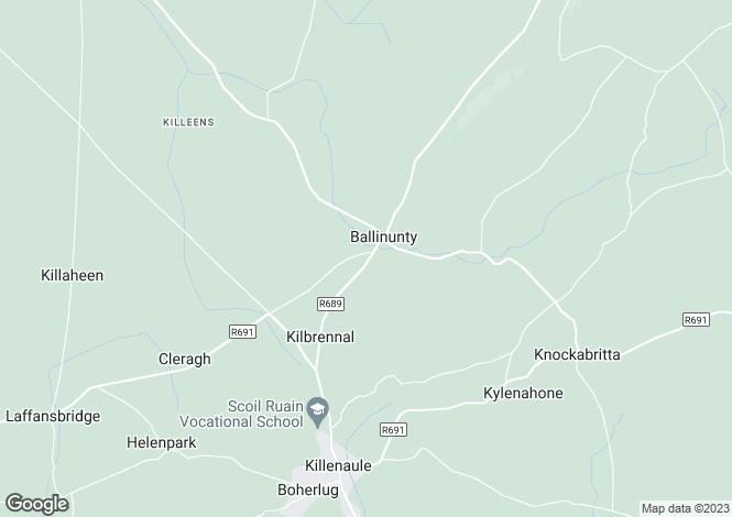 Map for Kilbrennal House, Ballynonty, Killenaule, Tipperary