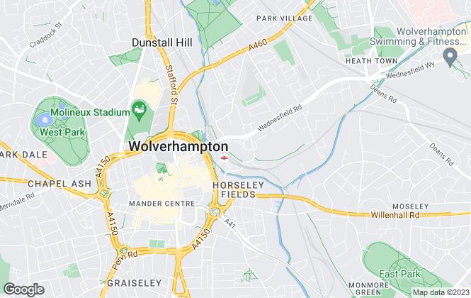 Map for Purplebricks.com, covering Wolverhampton