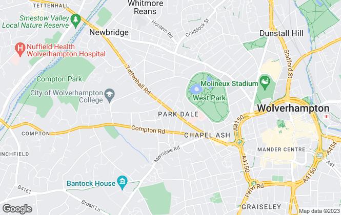 Map for RE/MAX Property Hub, Wolverhampton