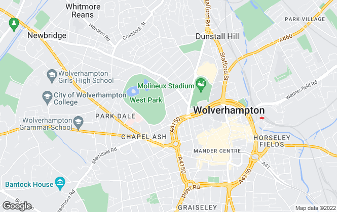 Map for Harj Bains Estate Agents., Wolverhampton