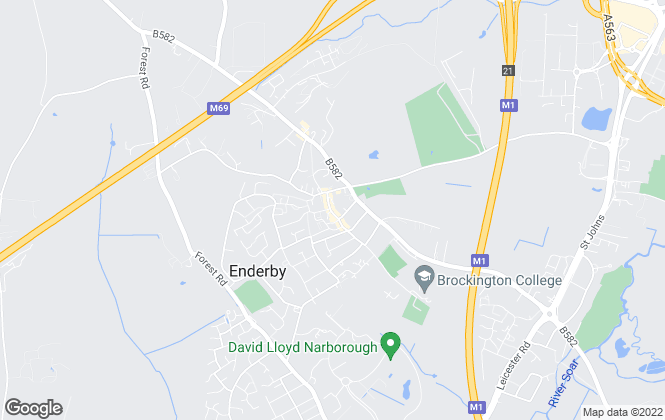 Map for Nest Estate Agents, Enderby
