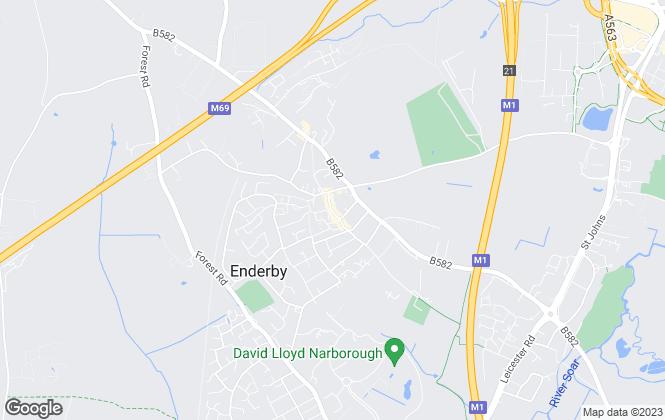 Map for Nest Estate Agents, Enderby