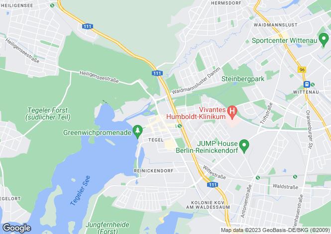 Map for Bernstorffstrasse 8a, Berlin, Tegel (Berlin), Germany