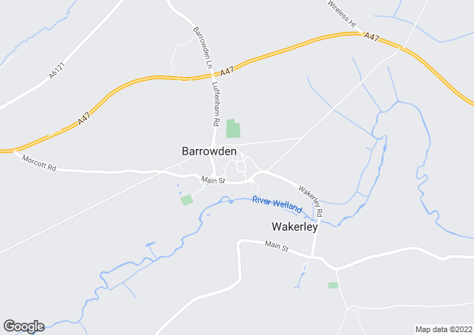 Map for Barrowden