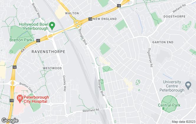 Map for Ad Hoc Property Management Ltd, Peterborough