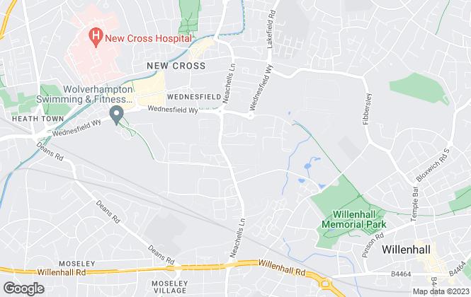 Map for Phoenix Properties, Wolverhampton