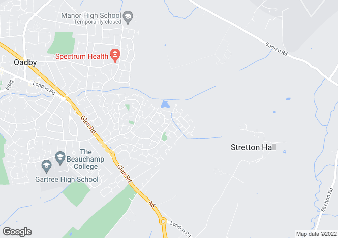 Map for Weston Close, Oadby, Leicester