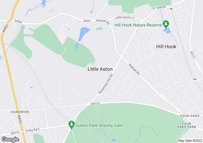 Map for Endwood Drive, Little Aston, Sutton Coldfield, West Midlands, B74