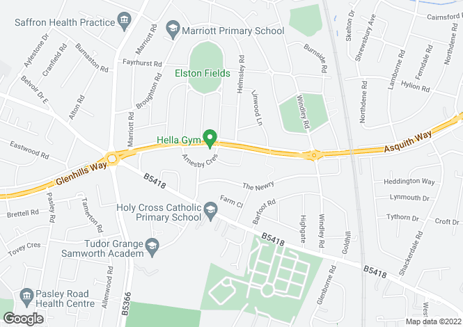 Map for Belton Close, Leicester