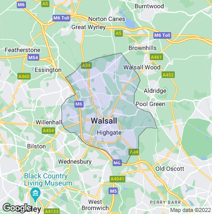 Map of property in Walsall