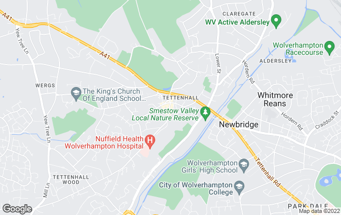 Map for Thomas Harvey, Tettenhall