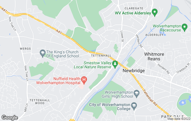 Map for Berriman Eaton, Tettenhall