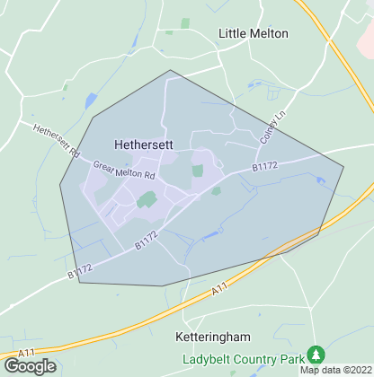 Map of property in Hethersett