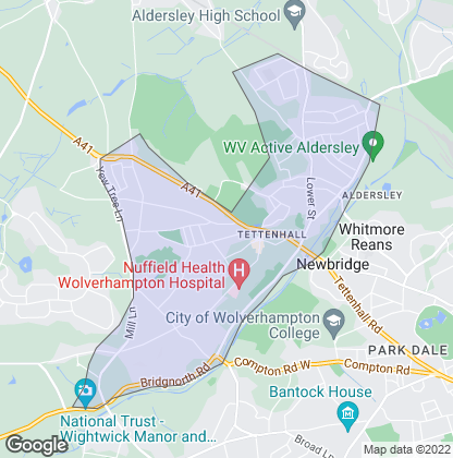 Map of property in Tettenhall