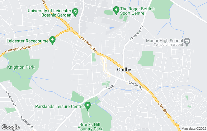 Map for Connells Lettings, Oadby